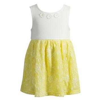 Baby Girl Youngland Floral Jacquard Dress