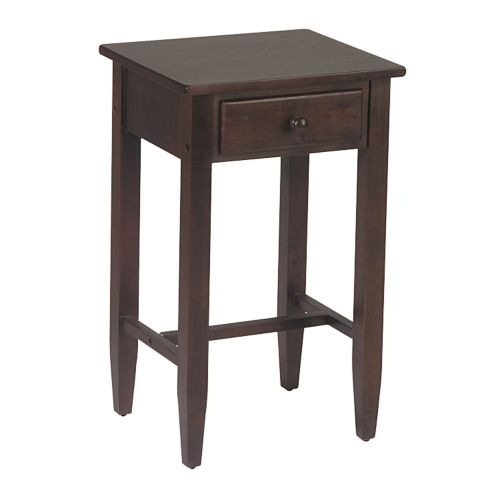 Home Star Products Espresso Telephone Accent Table