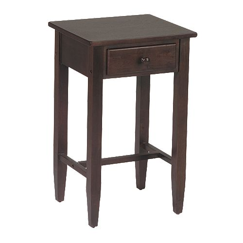 Home Star™ Products Espresso Telephone Accent Table