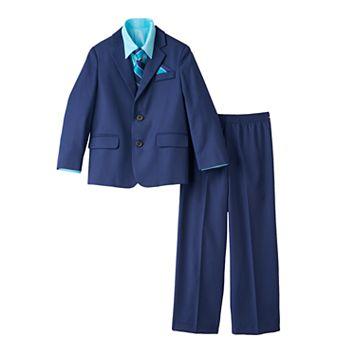Boys 4-7 Chaps Solid 4-Piece Suit Set