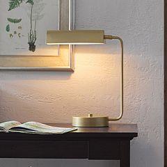 Madison Park Signature Gold Finish Metal Desk Lamp