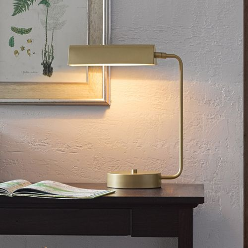 Madison Park Signature Gold Finish Metal Desk Lamp