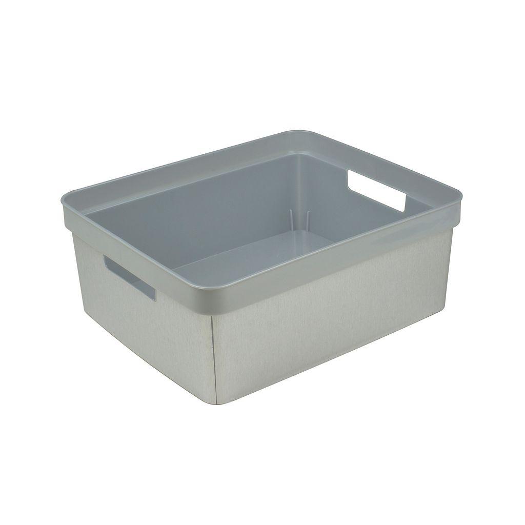 Simplify Metallic Textured Storage Bin