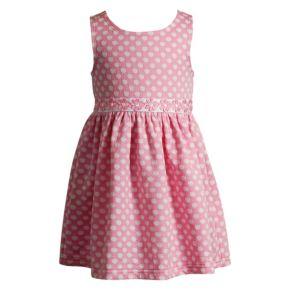Baby Girl Youngland Dot Textured Dress