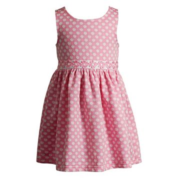 Baby Girl Youngland Dot Textured Dress