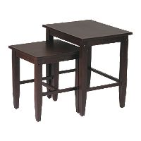 Home Star™ Products Espresso Nesting Table Set