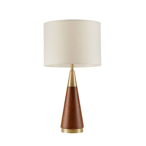 Ink Ivy Two Tone Mid Century Modern Table Lamp