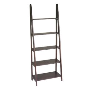 Home Star Products Espresso Ladder Bookcase