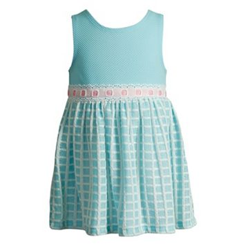 Baby Girl Youngland Textured Grid Dress