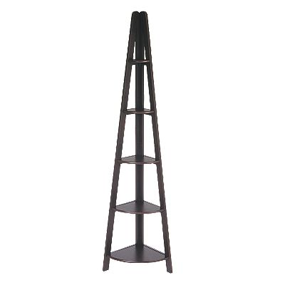 Home Star Products Espresso Corner Ladder Bookcase