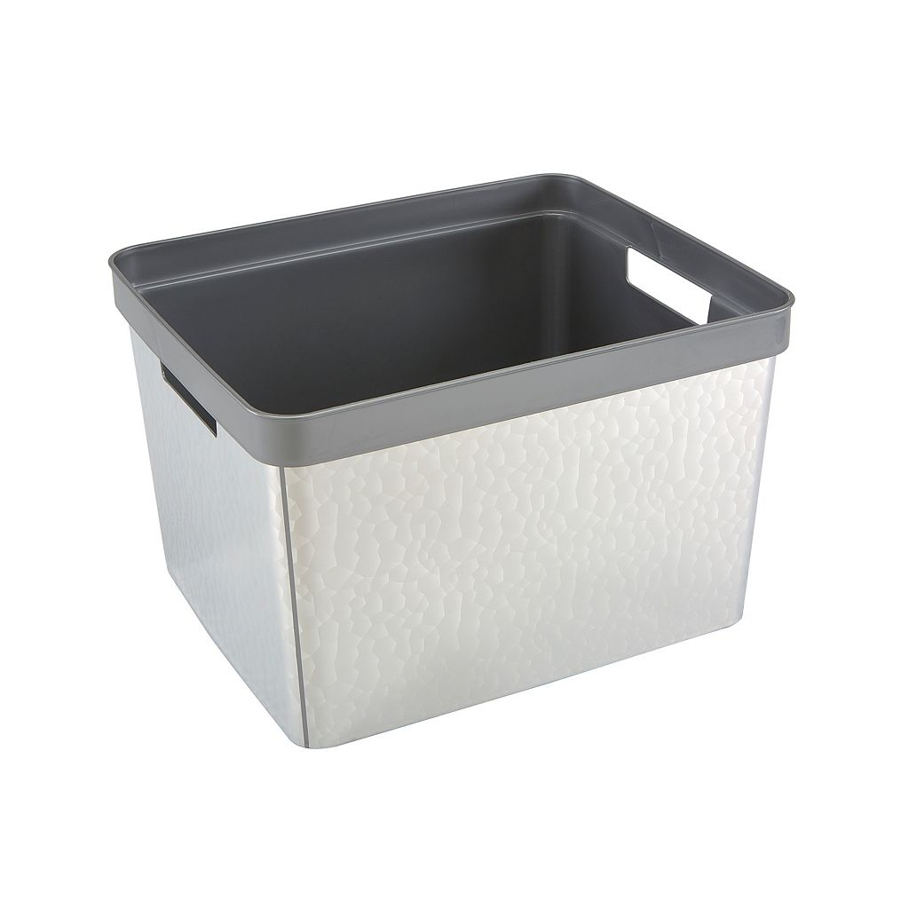 Simplify Hammered Metallic Storage Bin