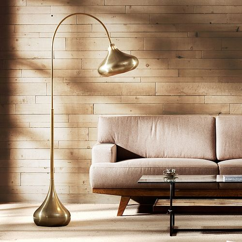 INK+IVY Matte Gold Finish Arc Floor Lamp