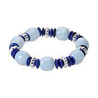 Chaps Blue Beaded Stretch Bracelet