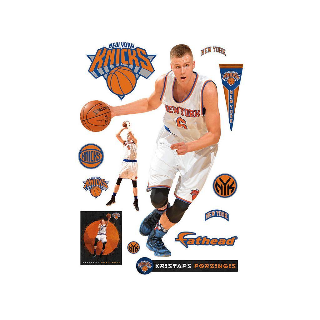 New York Knicks Kristaps Porzingis Wall Decal by Fathead