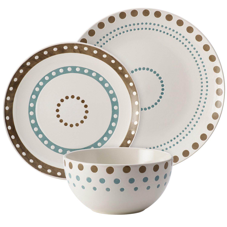 Rachael Ray Cucina Circles \u0026 Dots 12-pc. Dinnerware Set  sc 1 st  Kohl\u0027s & Rachael Ray Dinnerware \u0026 Serveware Kitchen \u0026 Dining | Kohl\u0027s