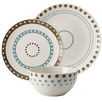 Rachael Ray Cucina Circles & Dots 12 pc Dinnerware Set