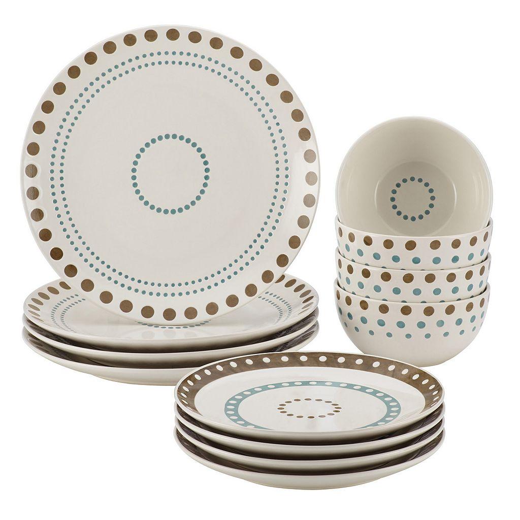 Rachael Ray Cucina Circles & Dots 12-pc. Dinnerware Set
