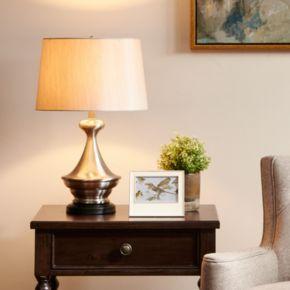 Madison Park Signature Brushed Nickel Finish Table Lamp