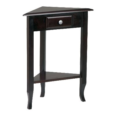 Home Star Products Merlot Corner Accent Table