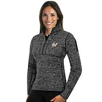 Women's Antigua Milwaukee Brewers Fortune Midweight Pullover Sweater