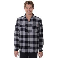 Men's Dickies Classic-Fit Plaid Sherpa-Lined Shirt Jacket