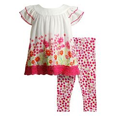Baby Girl Youngland Floral Top & Leggings Set