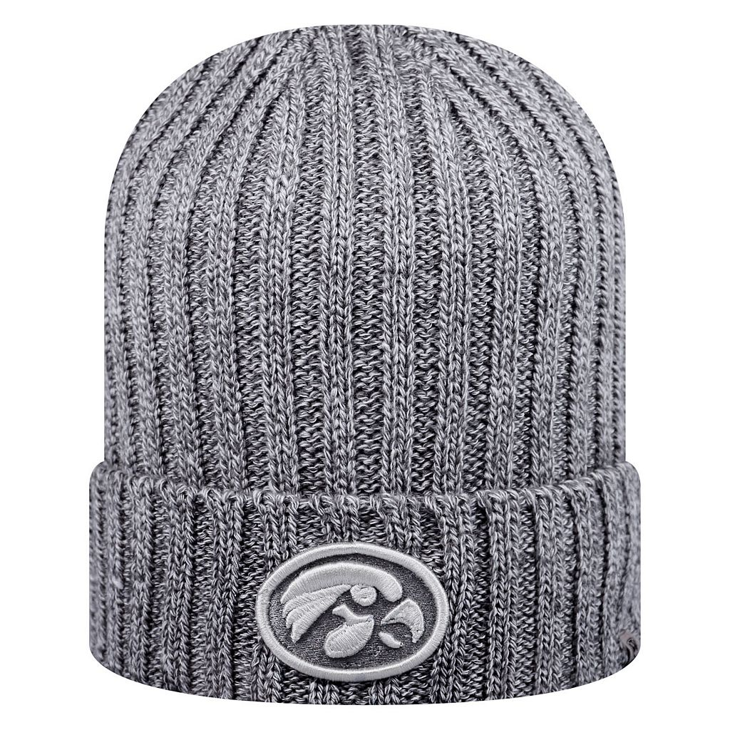 Adult Top of the World Iowa Hawkeyes Two Below Beanie