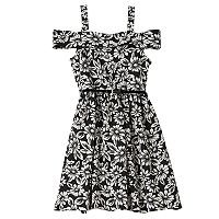 Girls 7-16 Knitworks Belted Cold-Shoulder Floral Marilyn Dress