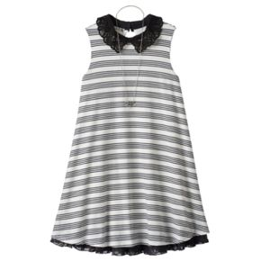 Girls 7-16 Knitworks Lace Peter Pan Collar Ribbed Dress