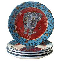 Certified International Spice Route 4-pc. Dessert Plate Set