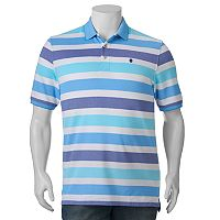 Big & Tall IZOD Advantage Classic-Fit Striped Performance Polo