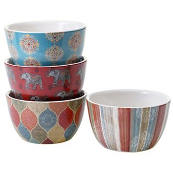 Certified International Spice Route 4-pc. Ice Cream Bowl Set