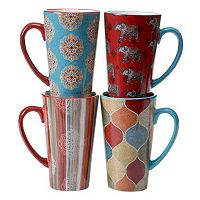 Certified International Spice Route 4-pc. Latte Mug Set