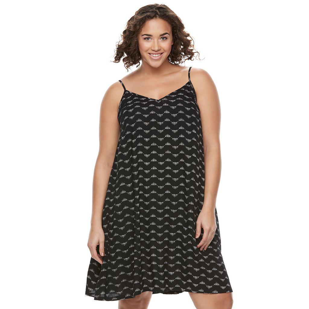 Juniors' Plus Size SO® Print Swing Dress