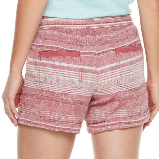 Women's SONOMA Goods for Life™ Striped Linen-Blend Shorts
