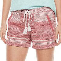 Women's SONOMA Goods for Life™ Striped Linen-Blend Shorts