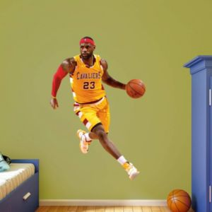 Cleveland Cavaliers LeBron James Gold Throwback Wall Decal by Fathead