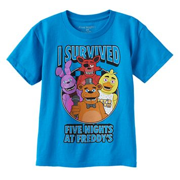 Boys 4-7 I Survived Five Nights At Freddy's Graphic Tee