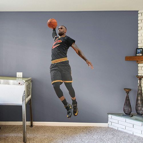 4c38c3444323 Cleveland Cavaliers LeBron James Wall Decal by Fathead