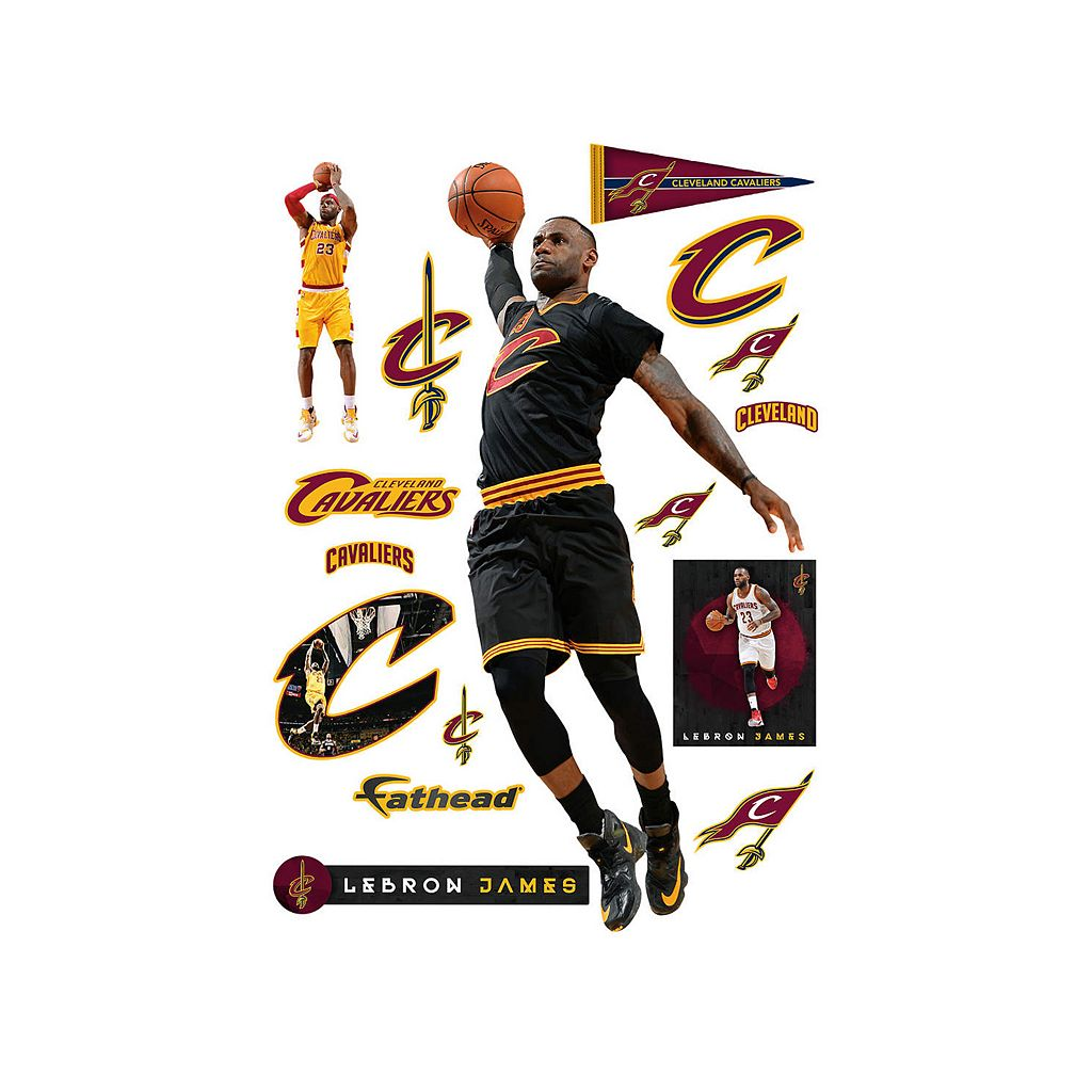Cleveland Cavaliers LeBron James Wall Decal by Fathead