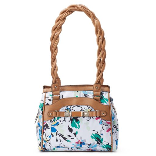 Rosetti Twist It Up Floral Triple-Entry Shoulder Bag