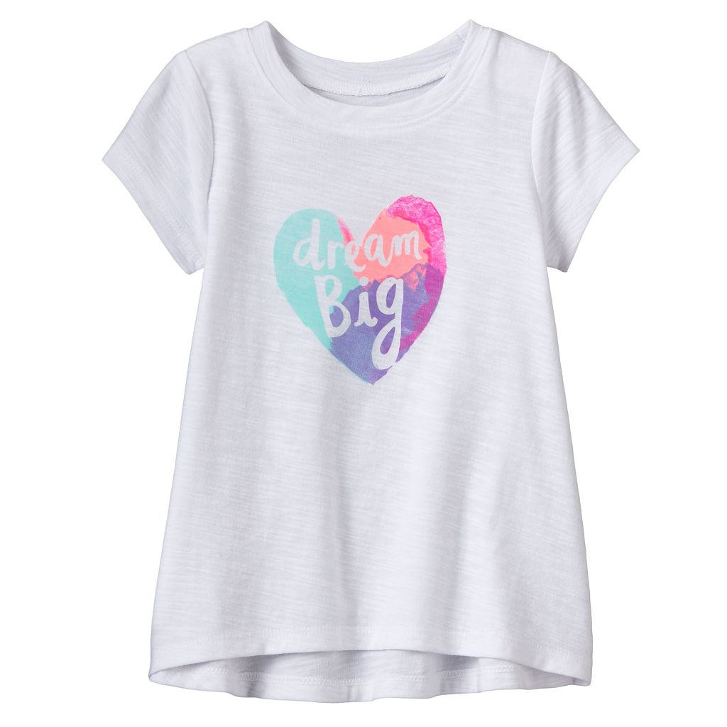 Baby Girl Jumping Beans® Slubbed Swing Top