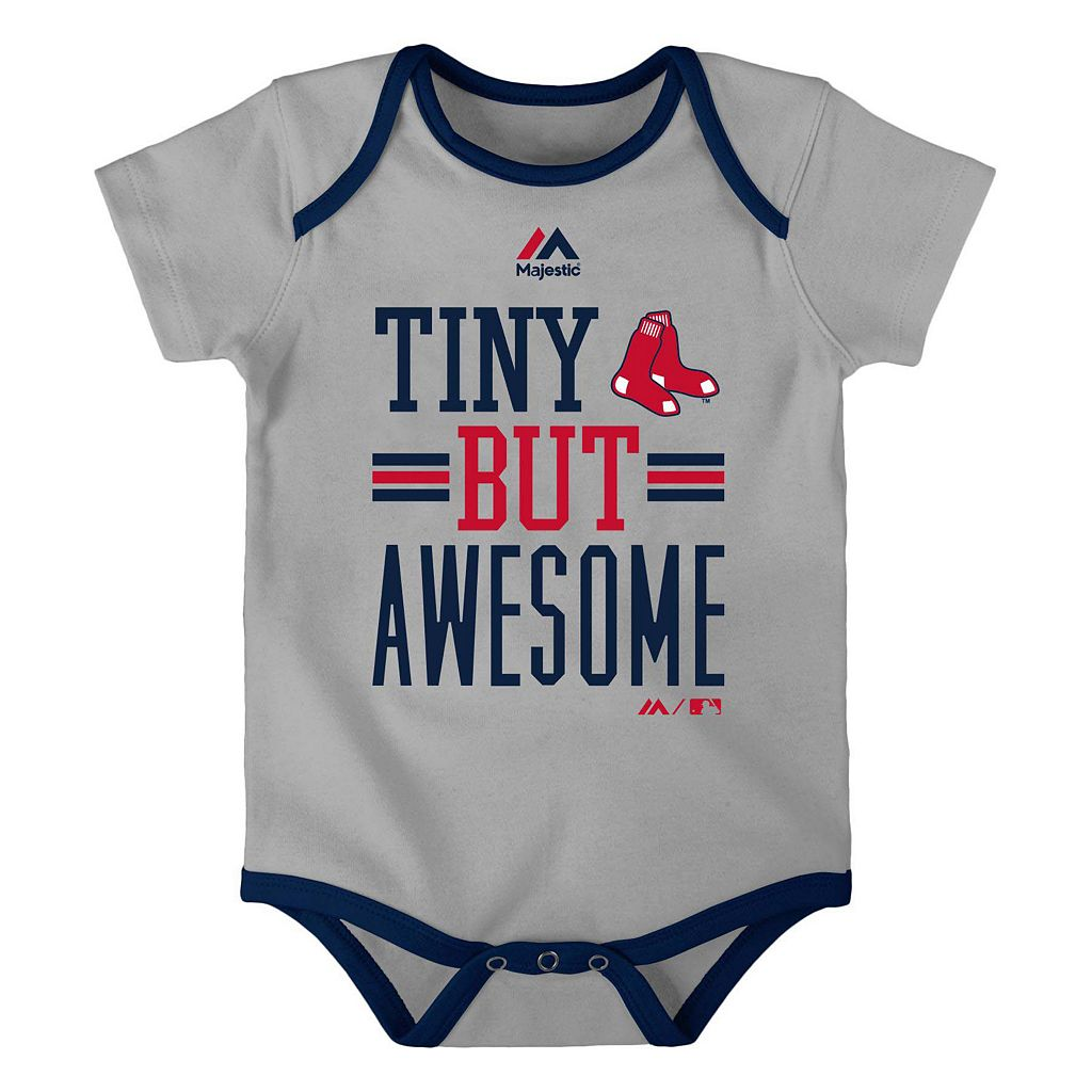 Baby Majestic Boston Red Sox 3-Pack Bodysuits