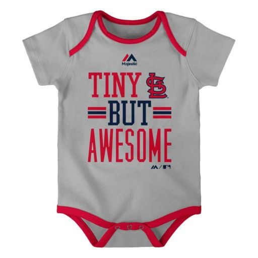 Baby Majestic St. Louis Cardinals 3-Pack Bodysuits