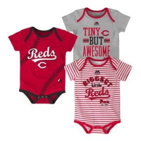 Baby Majestic Cincinnati Reds 3-Pack Bodysuits