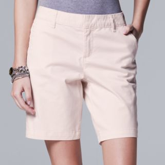 Women's Simply Vera Vera Wang Twill Bermuda Shorts