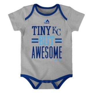 Baby Majestic Kansas City Royals 3-Pack Bodysuits