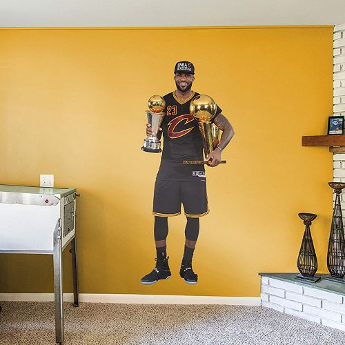 057ec173dc5c Cleveland Cavaliers LeBron James 2016 NBA Finals Trophy Wall Decal by  Fathead
