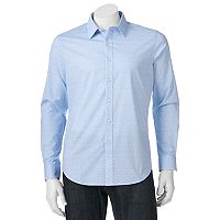 Men's Apt. 9® Slim-Fit Patterned Stretch Button-Down Shirt