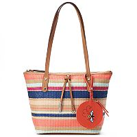Rosetti AnneMarie Straw Tote with Bee Coin Purse